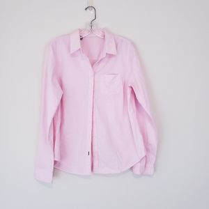 Pink Broadcloth Button Down Shirt Large